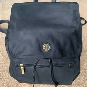 Tory Burch black canvas backpack